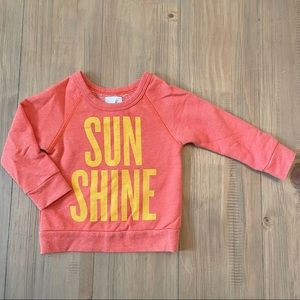 Peek | Orange Sunshine Pullover Sweatshirt